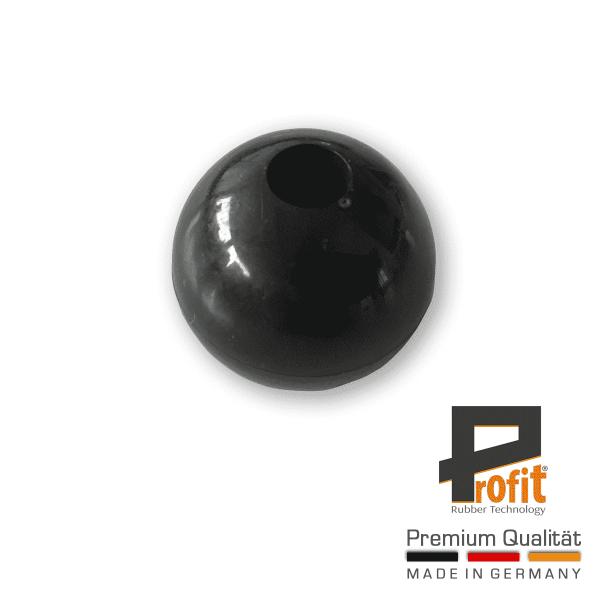 Kugel für Spanngummi schwarz | Kunststoffkugel für Expanderschlingen | Plastikkugel für Spanngummis | Profit Rubber Technology