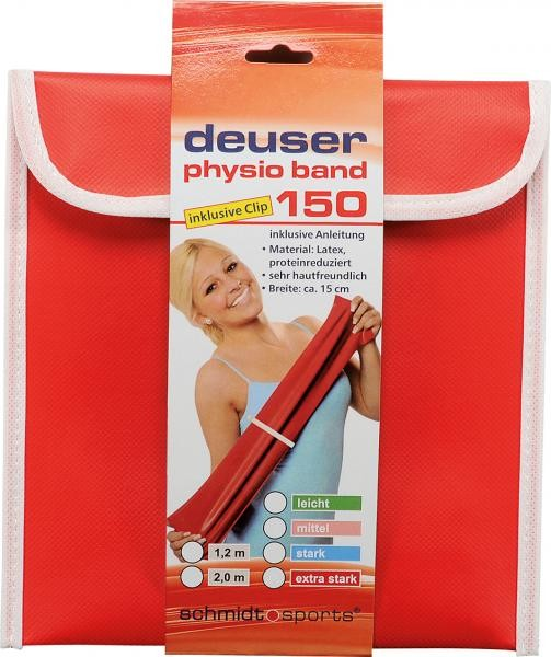 Deuser Physioband 150mm x 2,4m Blau/Stark