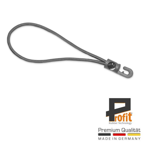Spanngummi | Expanderschlinge grau mit Kunststoffhaken | 130mm
