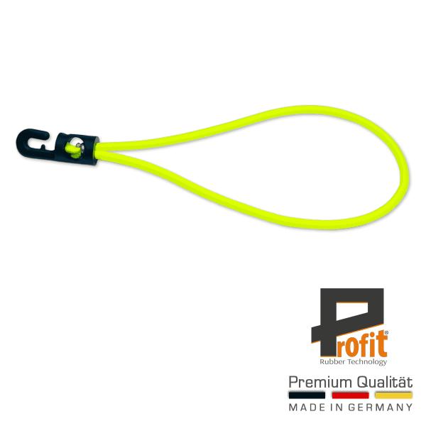 Expanderschlinge mit Haken 230mm | Neongelb | Neonfarben | Neon | Gelb | Expandergummi | Expanderschlingen | Profit Rubber Technology