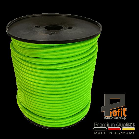 Expander-Seil - Gummi-Seil Neongrün 8mm auf 100 Meter Rolle