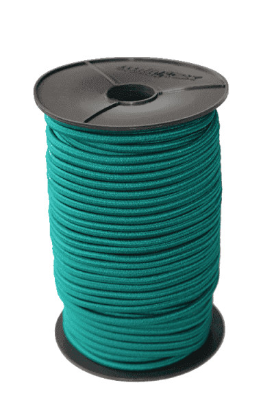 Gummiseil - Expanderseil Grün 100 Meter 8mm Durchmesser | Gummiseile |